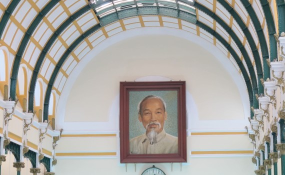 Ho Chi Minh in the post office